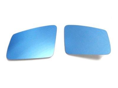 画像1: AutoStyle ワイドビューブルードアミラーレンズ for BENZ W212/W221/W204