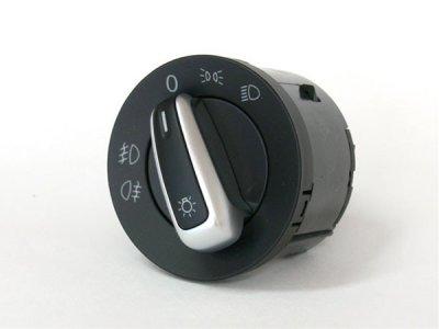 画像1: VW純正 PassatCC ヘッドライトスイッチ (オートライト無/フロントフォグ有)