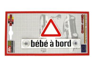 画像1: 【OUTLET】HerbertRichter プラスチック・デコエンブレム bebe a bord (French)