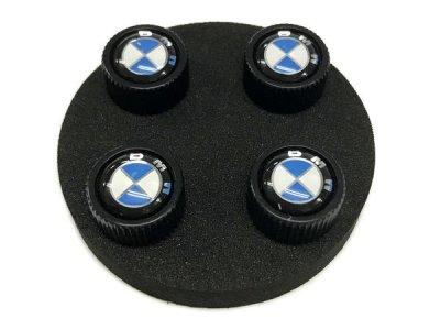 画像3: BMW バルブキャップ BMWマーク(ブラック)(BMW VALVE STEM CAPS BLACK)