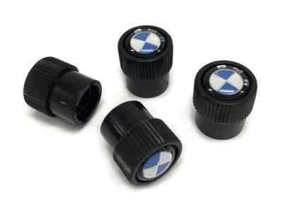 画像1: BMW バルブキャップ BMWマーク(ブラック)(BMW VALVE STEM CAPS BLACK)