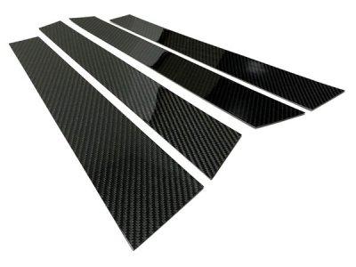 画像2: ブラックカーボンピラーパネル 4pcs BMW F48(X1)