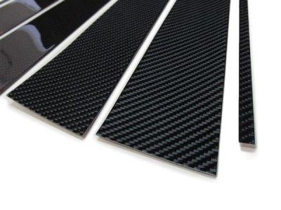 画像3: ブラックカーボンピラーパネル 4pcs BMW F48(X1)