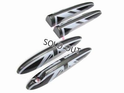 画像2: AutoStyle MINI ドアハンドルカバー for MINI R55 CLUBMAN ブラックユニオンジャック 4pcs