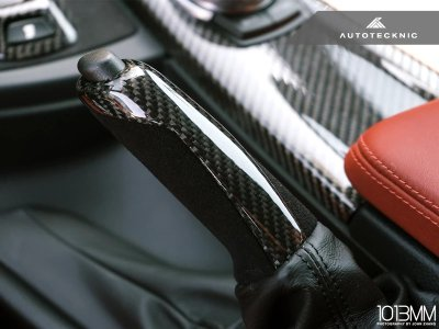 画像3: AUTOTECKNIC サイドブレーキハンドル CARBON/ALCANTARA for BMW F20/F30/F10