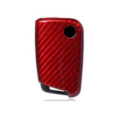画像2: AutoStyle カーボンキーケース RED for VW GOLF7.5/7(GTI/R不可)/Touran(5T)/POLO6C/Tiguan(AD1)