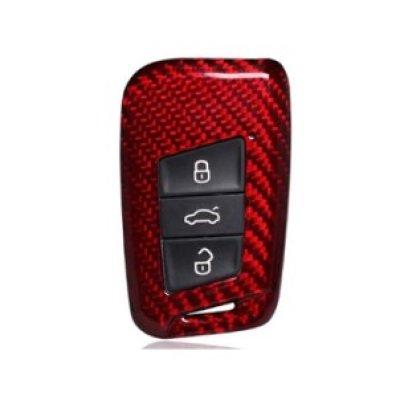 画像1: AutoStyle カーボンキーケース RED for VW Arteon/Passat(B8)