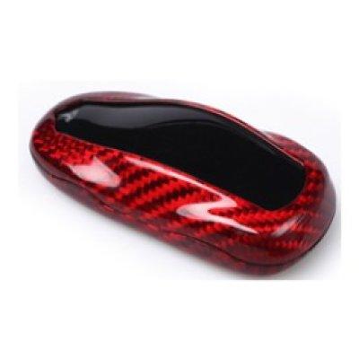 画像1: AutoStyle カーボンキーケース RED for TESLA Model X