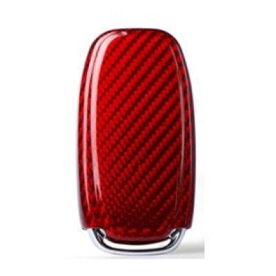 画像2: AutoStyle カーボンキーケース RED for  AUDI A4/A5/Q5(B8)