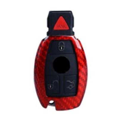 画像1: AutoStyle カーボンキーケース RED for Mercedes-Benz