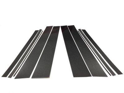 画像1: ブラックカーボンピラーパネル 10pcs BMW G05(X5)