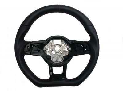 画像1: Autostyle VWエアバック対応ステアリング  オールレザー レッドテッチ