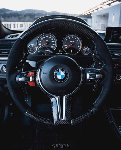 画像2: AUTOTECKNIC Carbon アウターステアリングホイールトリム for BMW M2/M3/M4/M5/M6