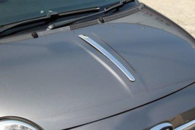 画像1: OMTEC ステンレスボンネットラインガーニッシュ for FIAT500/ABARTH500