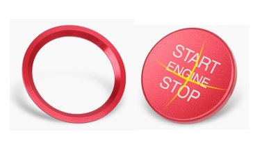 画像2: Autostyle AUDI Start/Stop Button/Ring RED