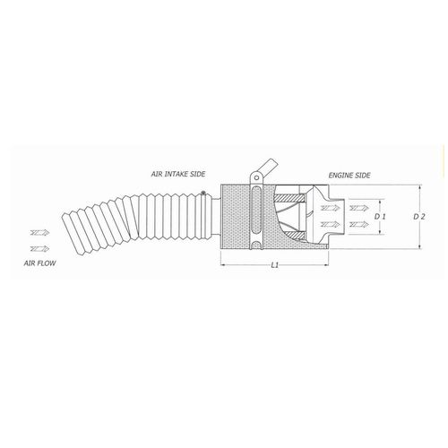 ACCDASP-38 CARBON AIR FILTER BMC CDA FIAT PANDA II 100 HP 1.4 16V